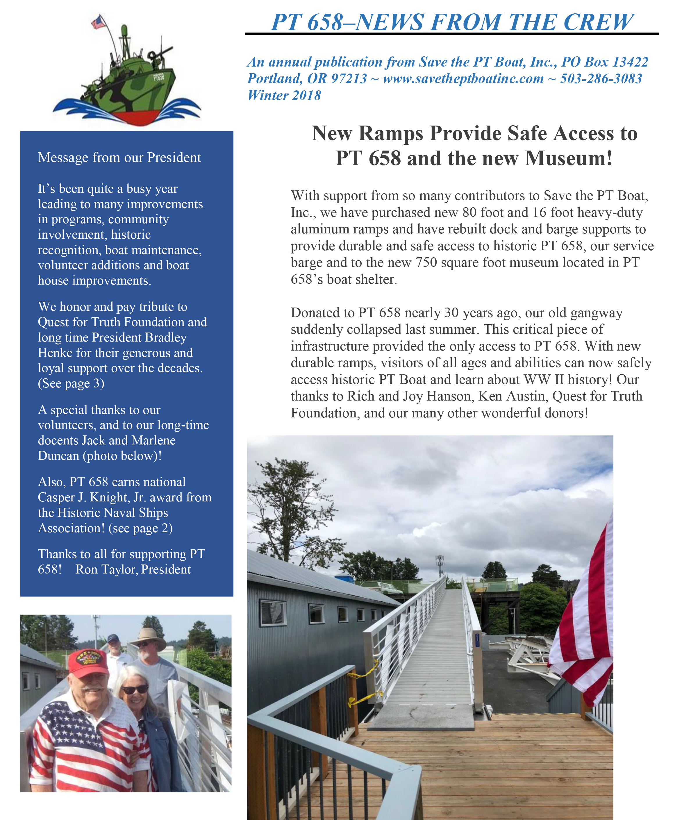 PT658 News Page